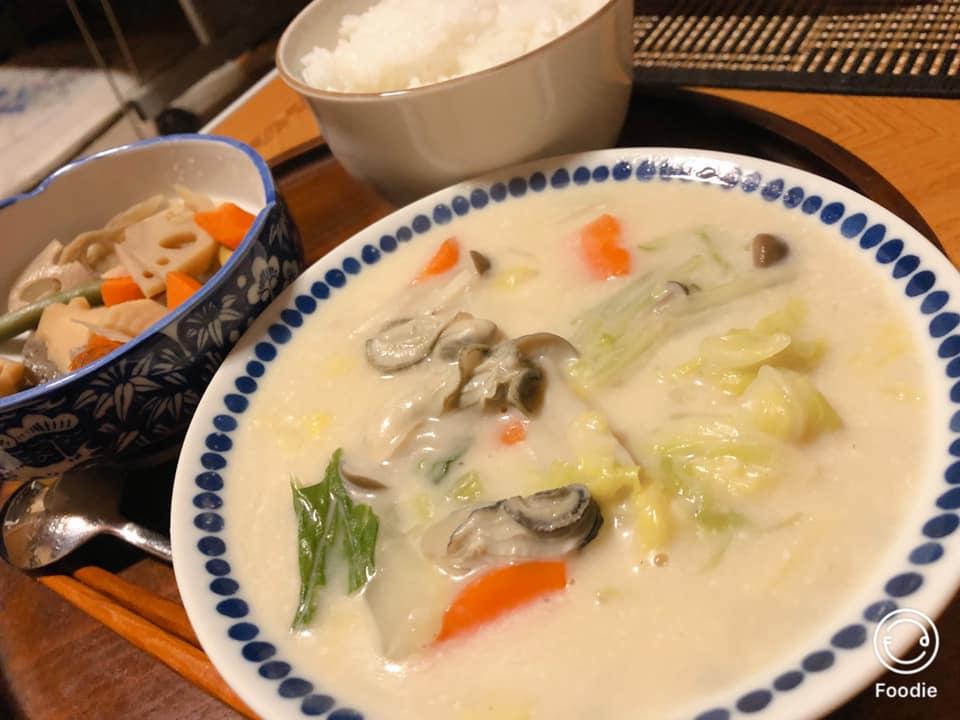 おうちごはん「牡蠣と白菜のクリーム煮」